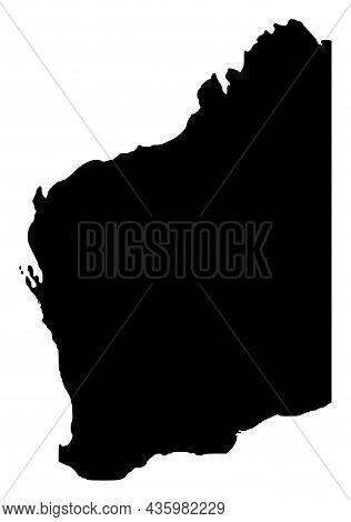 Vector Western Territory - Australia Map Illustration. An Isolated Illustration Of Western Territory