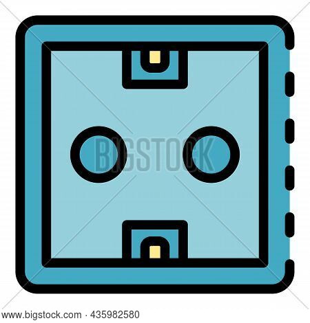 Power Socket Icon. Outline Power Socket Vector Icon Color Flat Isolated