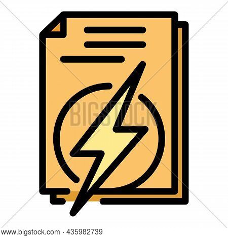 Hybrid Car Papers Icon. Outline Hybrid Car Papers Vector Icon Color Flat Isolated