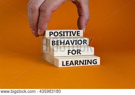 Positive Behavior For Learning Symbol. Concept Words Positive Behavior For Learning On Wooden Blocks