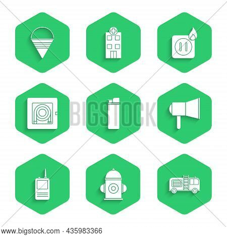 Set Lighter, Fire Hydrant, Truck, Megaphone, Walkie Talkie, Hose Cabinet, Electric Wiring Of Socket