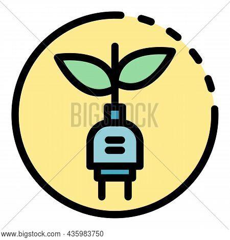 Renewable Energy Icon. Outline Renewable Energy Vector Icon Color Flat Isolated