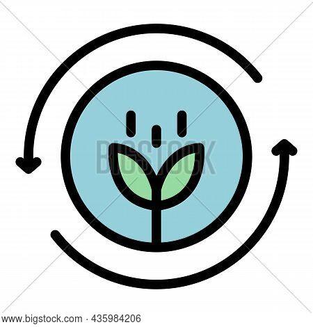 Renewable Bioenergy Icon. Outline Renewable Bioenergy Vector Icon Color Flat Isolated