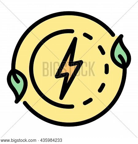 Bio Energy Process Icon. Outline Bio Energy Process Vector Icon Color Flat Isolated