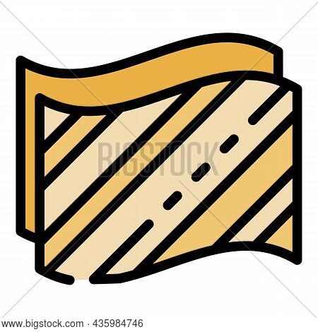Insulation Material Icon. Outline Insulation Material Vector Icon Color Flat Isolated