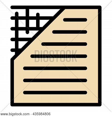 Insulation Floor Icon. Outline Insulation Floor Vector Icon Color Flat Isolated