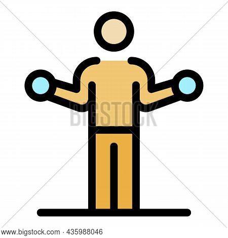 Senior Athlete Training Icon. Outline Senior Athlete Training Vector Icon Color Flat Isolated