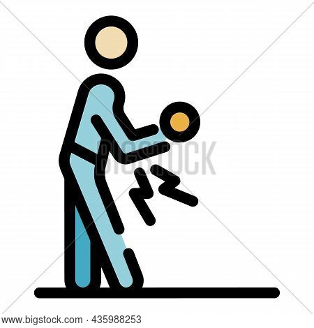 Knee Sport Injury Icon. Outline Knee Sport Injury Vector Icon Color Flat Isolated