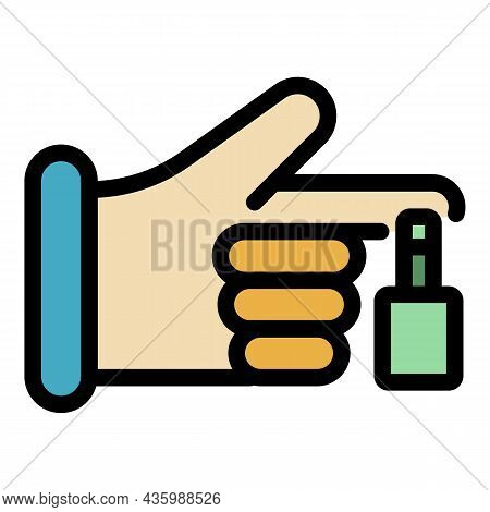 Sport Finger Injury Icon. Outline Sport Finger Injury Vector Icon Color Flat Isolated