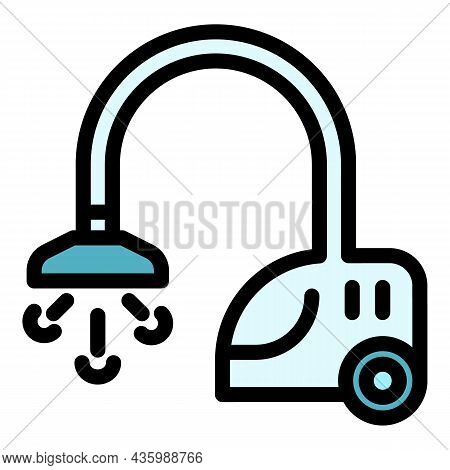Care Steam Cleaner Icon. Outline Care Steam Cleaner Vector Icon Color Flat Isolated