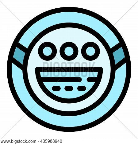 Robot Steam Cleaner Icon. Outline Robot Steam Cleaner Vector Icon Color Flat Isolated