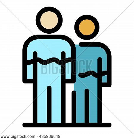 People Hormones Icon. Outline People Hormones Vector Icon Color Flat Isolated