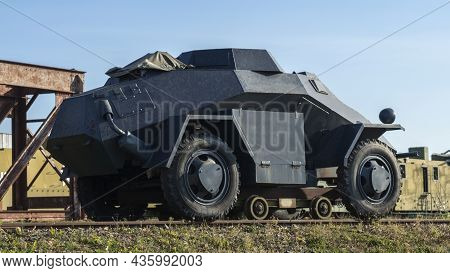 A Period Ww2 German Armoured Scout Or Command Car. Car Used By The German Armed Forces During World