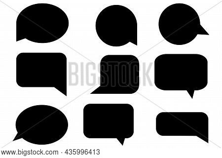 Speech Dialogue Set. Shadow Effect. Communication Concept. Freehand Art. Banner Design. Vector Illus