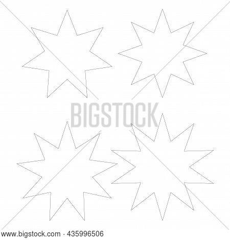 Polygonal Forms Icon. Geometric Figure. Line Art. School Education. Basic Math Element. Vector Illus
