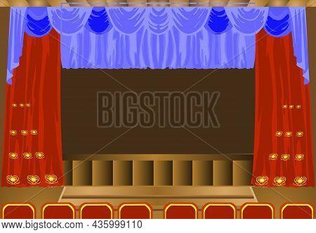 Theater Scene Vector Illustration. Theater Scene Vector Illustration.