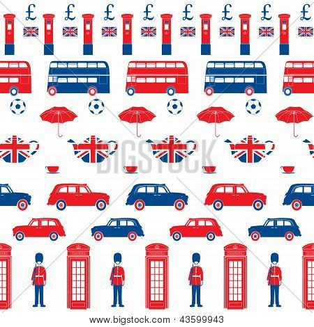 London Symbols - Icons - Seamless Vector Patten