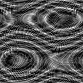 A dark abstract design with circular lines and liquid ripples. poster