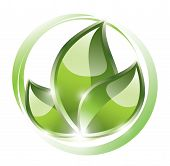 Eco plant as a sustainable symbol on circles poster