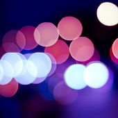 sparkling and defocused lights background. blue bokeh background. abstract blurred lights poster