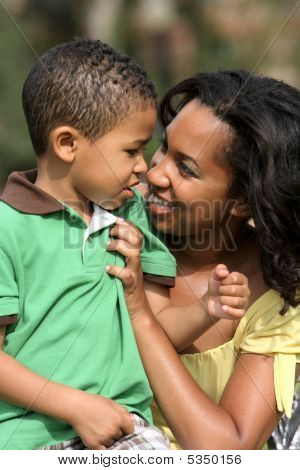 African American Mother and Son