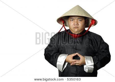 Traditional Asian Man Meditating