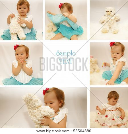 Little girl collage