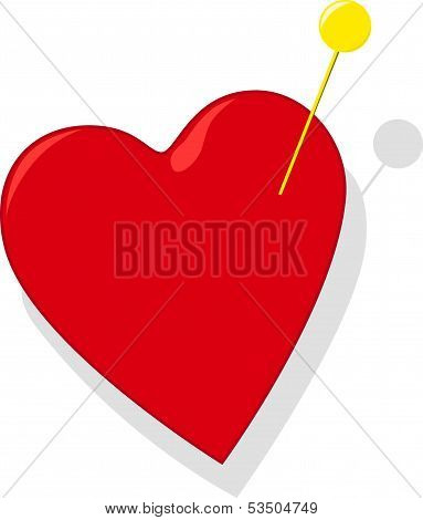 Heart with pin