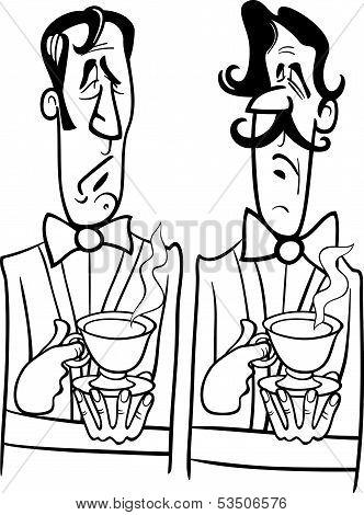 Gentelmen Black And White Cartoon