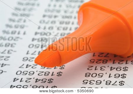 Financial Report With Marker