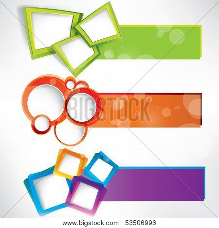Abstract background with speech bubble