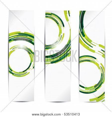 Set of abstract colorful web headers and cards poster