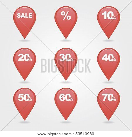 mapping pins icons SALE