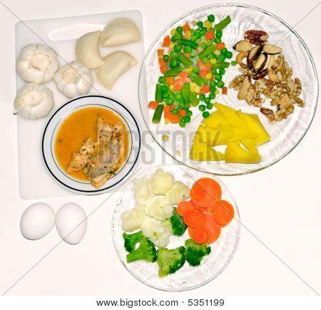 Vegan Fish And Vegetable Meal