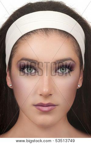 Young woman with smokey eye make up