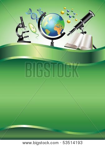 Scientific Vertical Vector Background