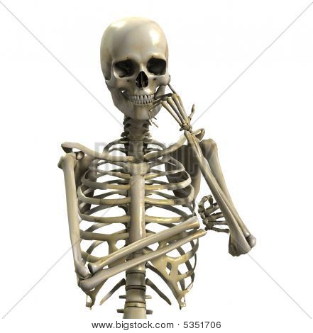 Skeleton In Deep Thought