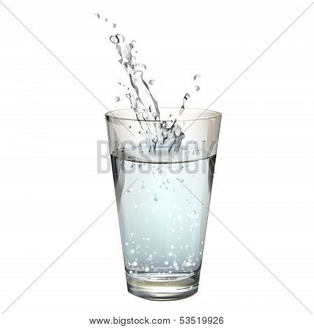 Realistic Water Splash. Vector Design