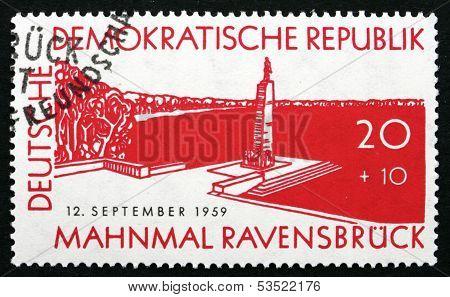 Postage Stamp Gdr 1957 Mahnmal Ravensbruck, Memorial Park