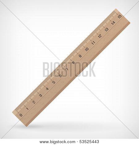 Vector Wooden Ruler Illustration