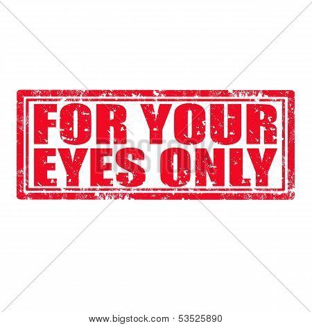For Your Eyes Only-stamp