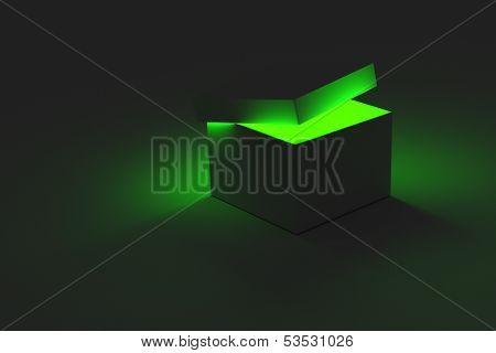 Green Glowing Box