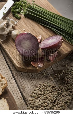 Onions And Lentils