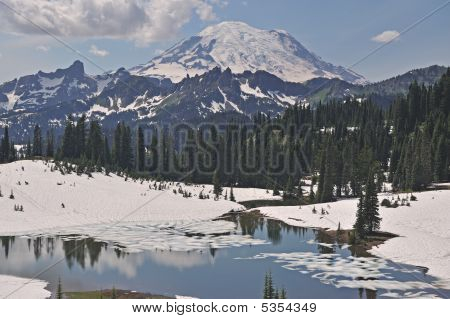 Tipsoo Lake And Mt. Ranier