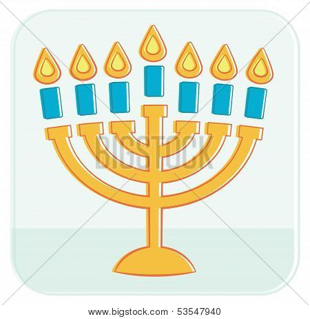 Menorah. Vector illustration.