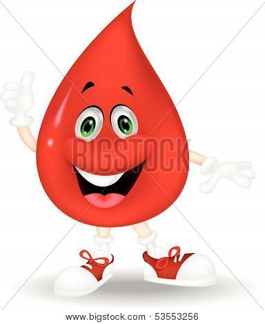 Blood cartoon giving a thumb up