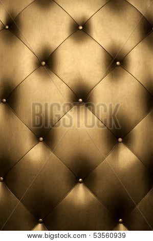 Luxury golden leather close-up
