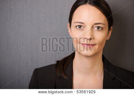 Calm Confident Businesswoman