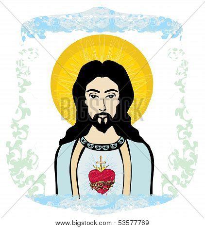 Sacred Heart Of Jesus Illustration