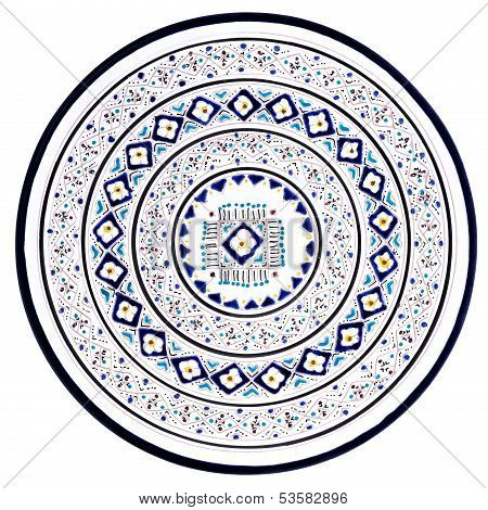 Tunisian Plate With Traditional Pattern